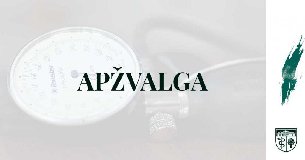 vaistų nuo hipertenzijos apžvalga